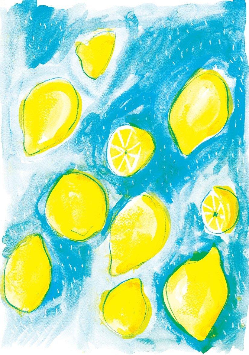 lemons raining