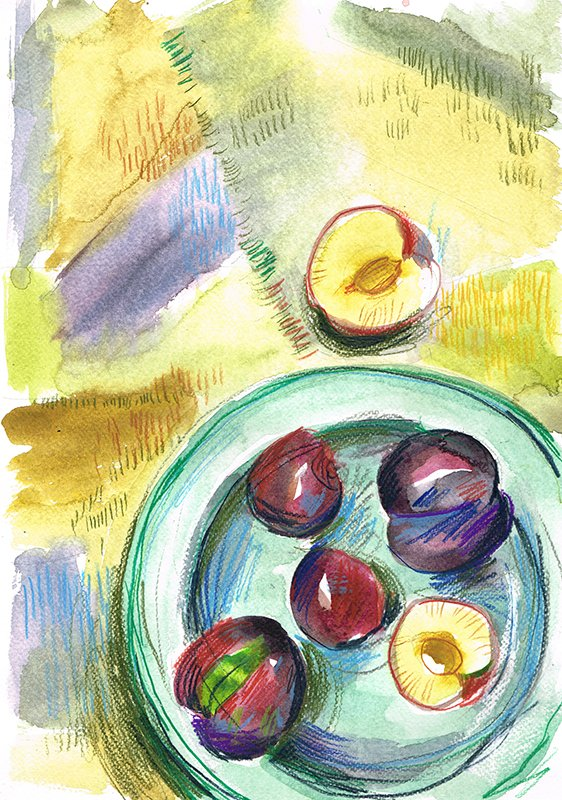 plums 2 laura mckendry food illustration