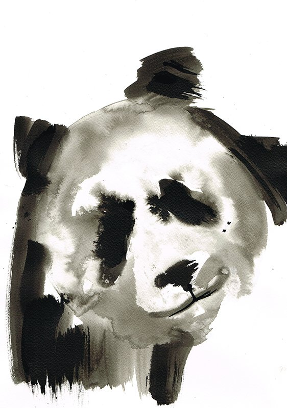 panda 4 laura mckendry ink illustration endangered