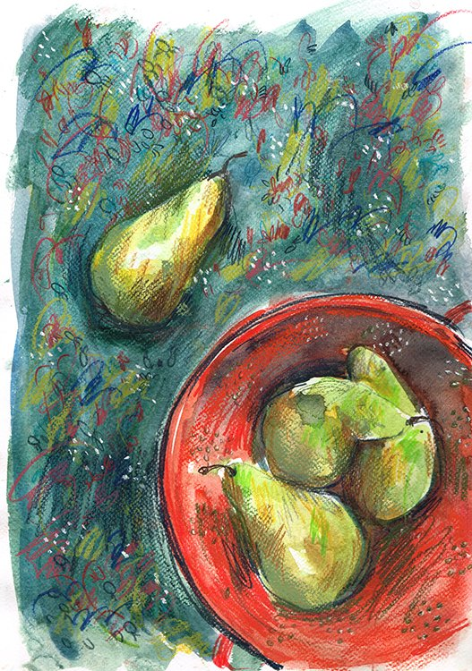 pears laura mckendry food illustration