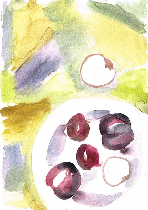 plums laura mckendry food illustration